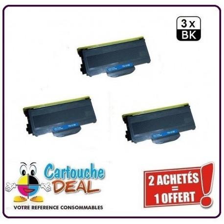 BROTHER TN2120 TN-2120 Lot 3 Toners compatible DCP 7030 7040 7045N HL 2130 2132 2135W MFC 7320 7340 345DN 7345N 7440N 7450 7840W