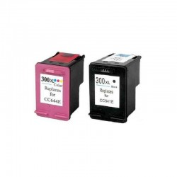 LOT DE 2 CARTOUCHES COMPATIBLE HP 300XL GRANDE CAPACITE HP300 XL