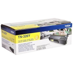 BROTHER TN-326 Y : TONER DE MARQUE MODÈLE BROTHER TN326 Y JAUNE
