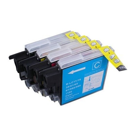 BROTHER LC-985 - Lot 4 cartouches compatible DCP J125 J140W J265W J315W J515W MFC J415W LC985