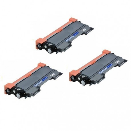 BROTHER TN2220 Lot 3 Toners compatible DCP 7060 7065 7070DW - FAX 2840 2940 - HL 2240 2250DN 2270DW - MFC 7360N 7460DN 7860DW
