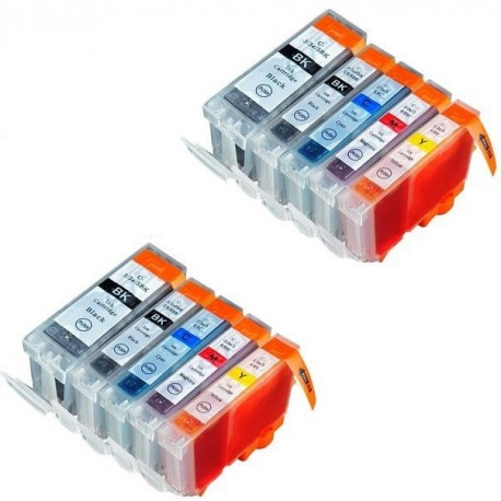CANON PGI-5 CLI-8 : Lot 10 cartouches compatible pour Pixma MP500 MP530 MP600 MP610 MP800 MP800R MP810 MP830 MP970 MX850