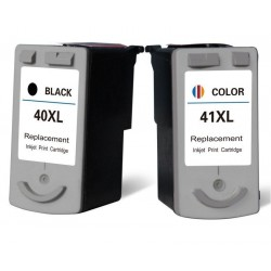 CANON PG40 CL41 Lot 2 cartouches compatible Pixma IP1600 IP1700 IP1800 IP1900