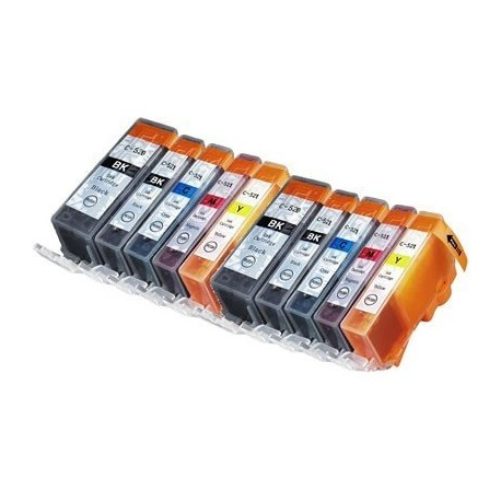 CANON PGI520 CLI521 Lot 10 cartouches compatible Pixma IP4700 MP540 MP550 MP560