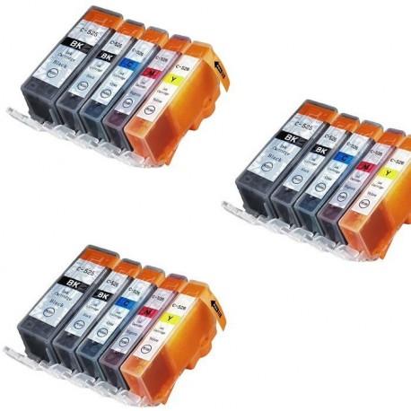 CANON PGI525 CLI526 Lot 15 cartouches compatible IX6550 MX715 MX885 MX895 MG5200