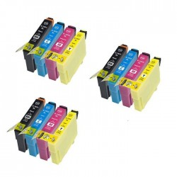 EPSON 16XL : Lot 12 cartouches compatible pour WorkForce WF2010 WF2510 WF2520 WF2530 WF2540 WF2630 WF2650 WF2660 - T1636