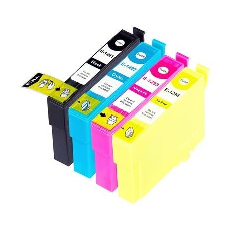 EPSON T1295 : Lot 4 cartouches compatible Stylus B42 B625 BX305F BX320 BX525 BX535 BX625 BX630 BX635 BX925 BX935 T1291