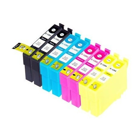 EPSON T1295 Lot 8 cartouches compatible Stylus BX535 BX625 BX630 BX635 BX925