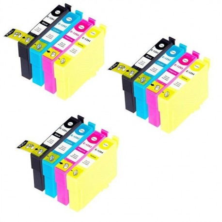EPSON T1295 : Lot 12 cartouches compatible Stylus B42 B625 BX305F BX320 BX525 BX535 BX625 BX630 BX635 BX925 BX935 T1291