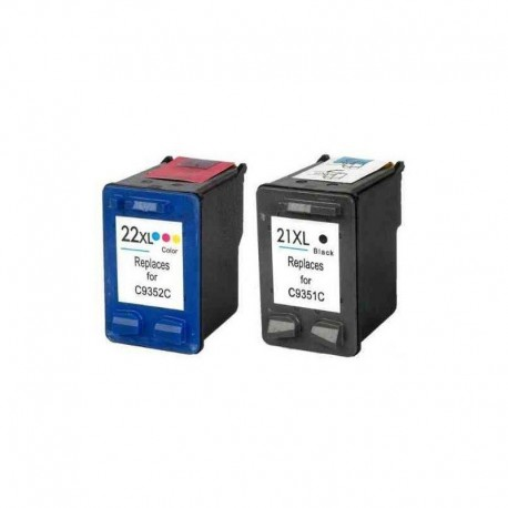 HP 21XL / HP 22XL : Lot 2 cartouches compatible HP Officejet 4300 4311 4314 4315 4315v 4315xi J3680 HP21 HP22 XL