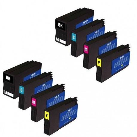 HP 950XL HP 951XL : Lot 8 cartouches compatible pour HP Officejet Pro 251dw 276dw 8100 8600 8610 8615 8620 8630 HP950 HP951 XL