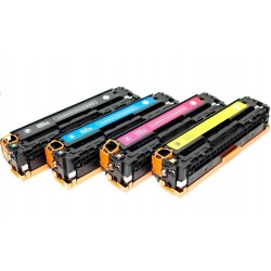 HP 125A Lot 4 Toners compatible Color LaserJet CP1518 CB540A CB541A CB542A CB543