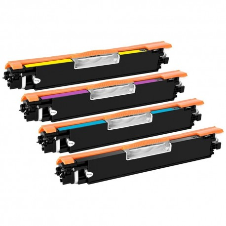 HP 126A - Lot 4 Toners compatible Color LaserJet CE310A CE311A CE312A CE313A