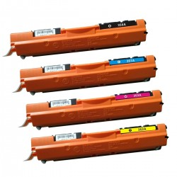 HP 130A - Lot 4 Toners compatible Color LaserJet Pro CF350A CF351A CF352A CF353A
