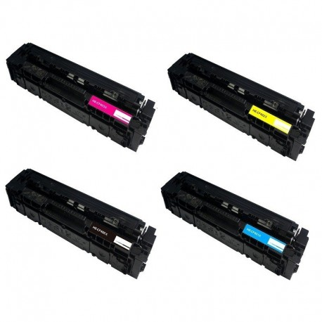 HP 201X - Lot 4 Toners compatible Color Laserjet Pro 200 CF400 CF401 CF402 CF403