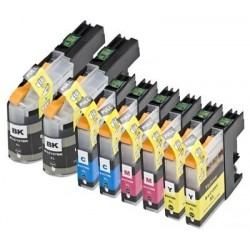 LOT DE 8 CARTOUCHES D'ENCRE GENERIQUE COMPATIBLE BROTHER LC-127 LC-125 XL LC127 LC125 XL
